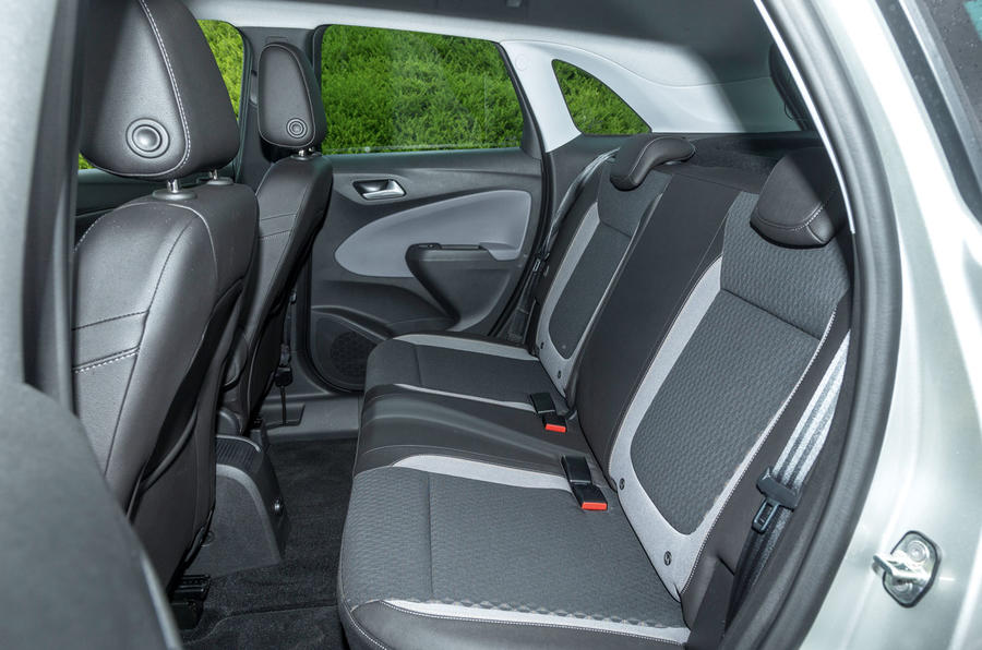 Vauxhall Crossland X rear seats