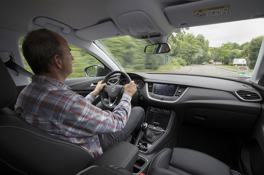 Andrew Frankel driving the Vauxhall Grandland X