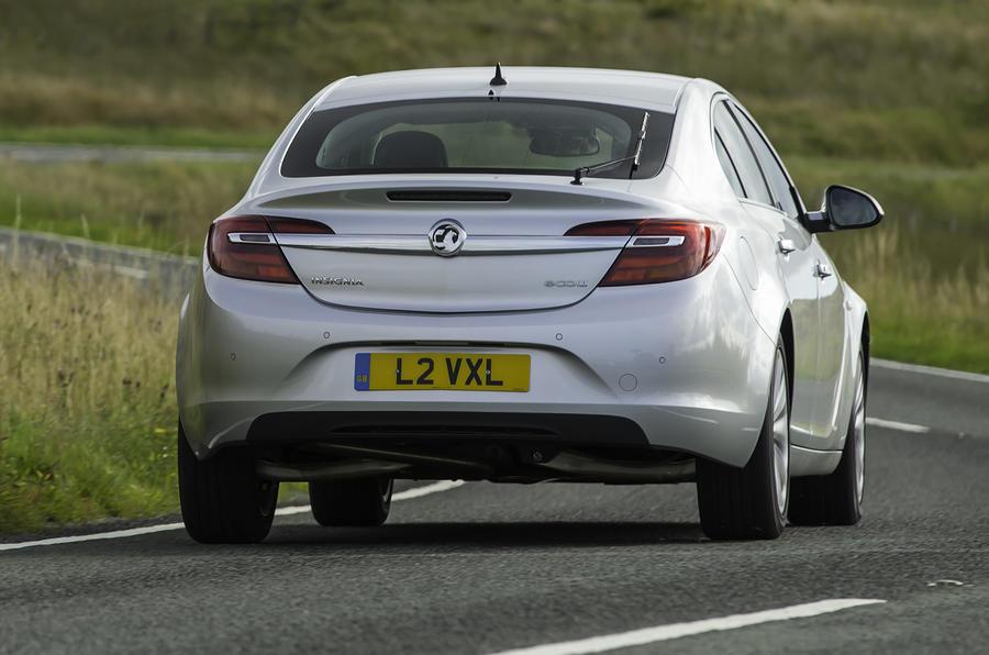 Vauxhall Insignia rear cornering