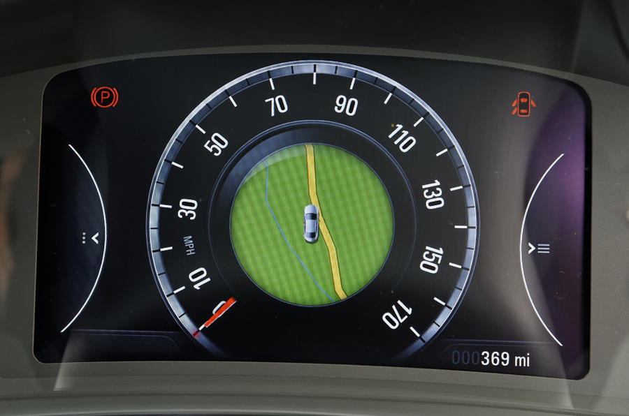 Vauxhall Insignia digital information cluster