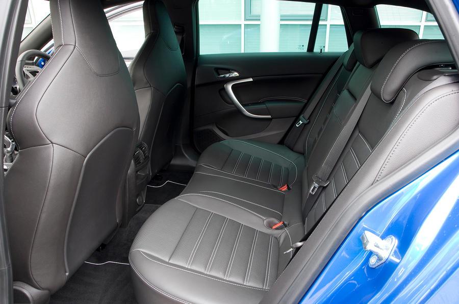 Vauxhall Insignia VXR rear seats