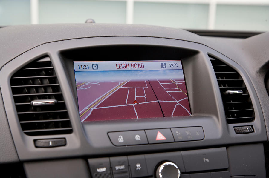 Vauxhall Insignia VXR infotainment system