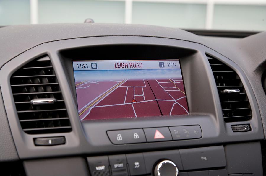 Vauxhall Insignia VXR infotainment system