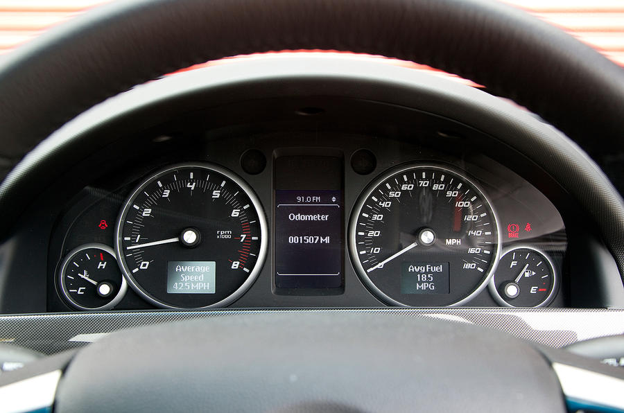 Vauxhall VXR8 Maloo instrument cluster