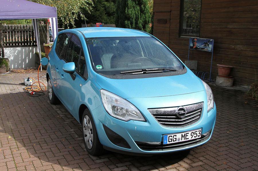 Electric Vauxhall Merivas spied