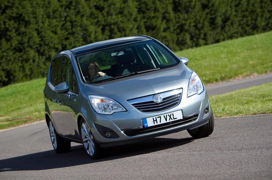 Vauxhall Meriva cornering