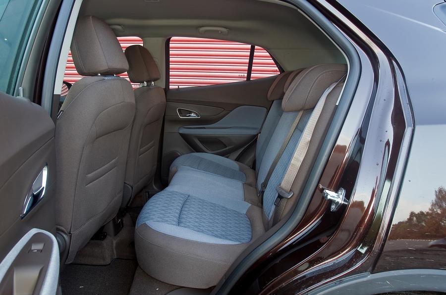 The rear seats of the Vauxhall Mokka