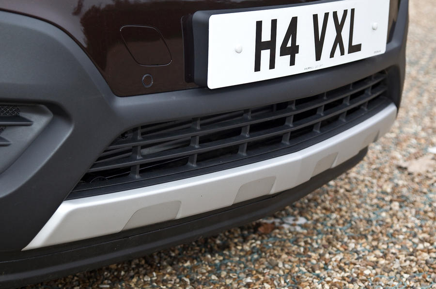 The plastic trim is designed to promote ruggedness on the Vauxhall Mokka