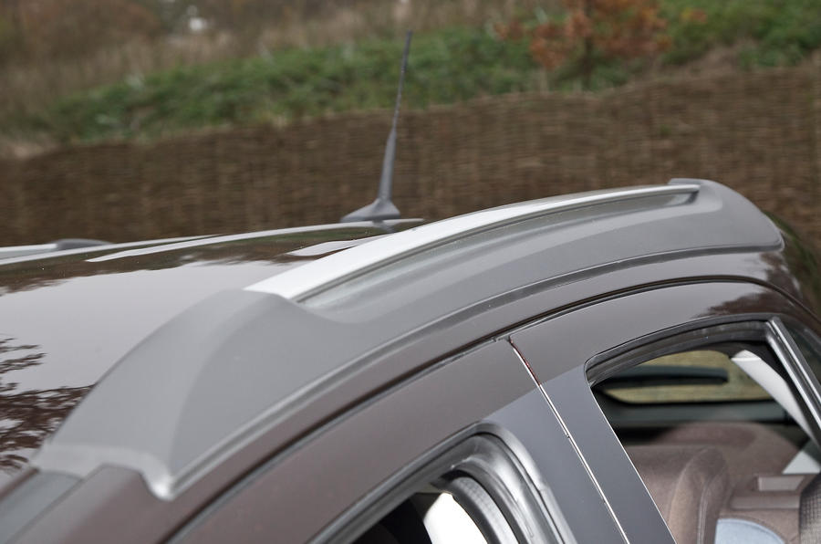 The Vauxhall Mokka has metallic roof bars as standard