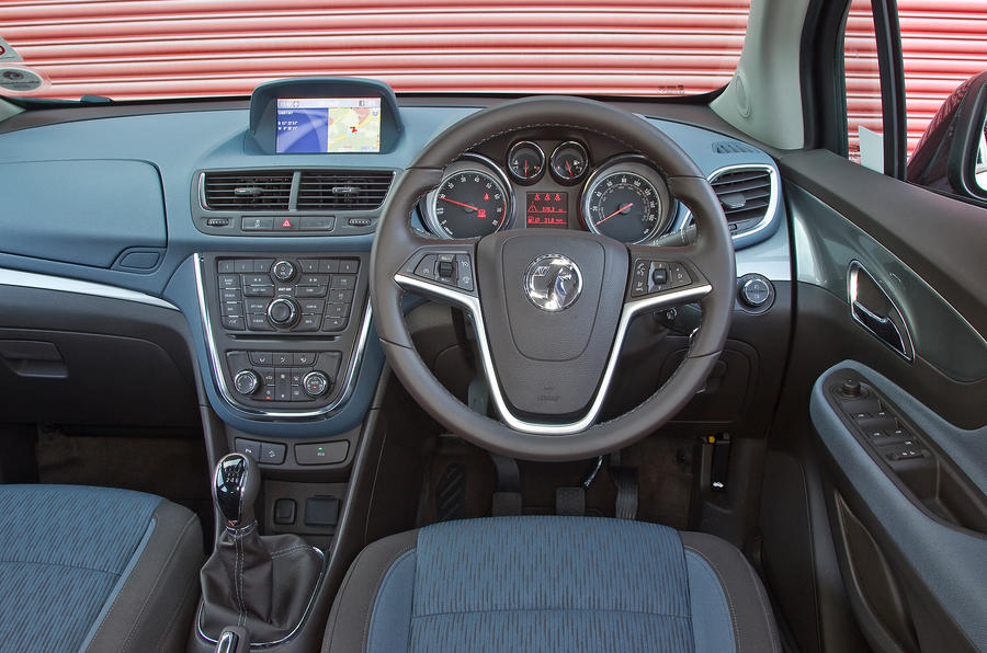 The view from the driver's seat of the Vauxhall Mokka