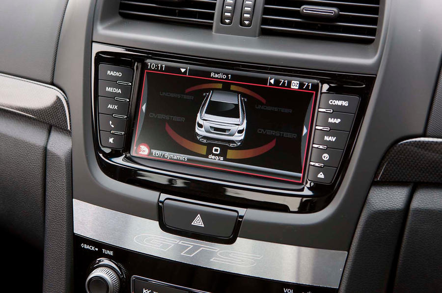 Vauxhall VXR8 infotainment system