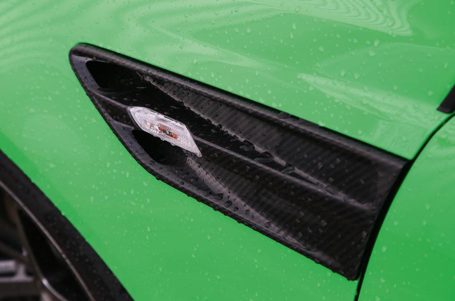 Vauxhall VXR8 GTS-R black side trim