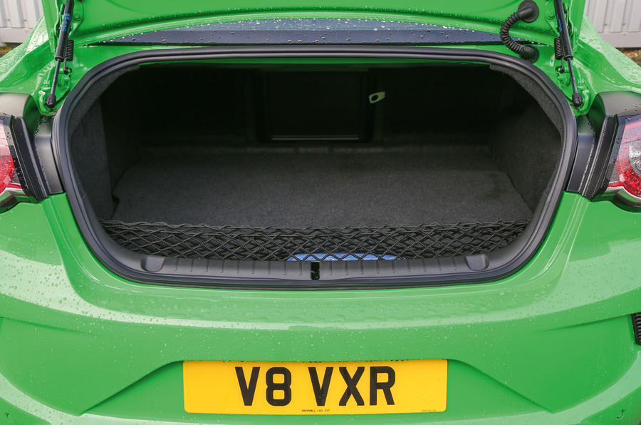 Vauxhall VXR8 GTS-R boot space