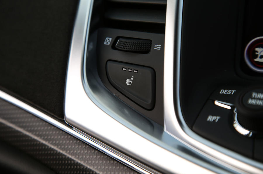 Vauxhall VXR8 GTS-R heated seats button