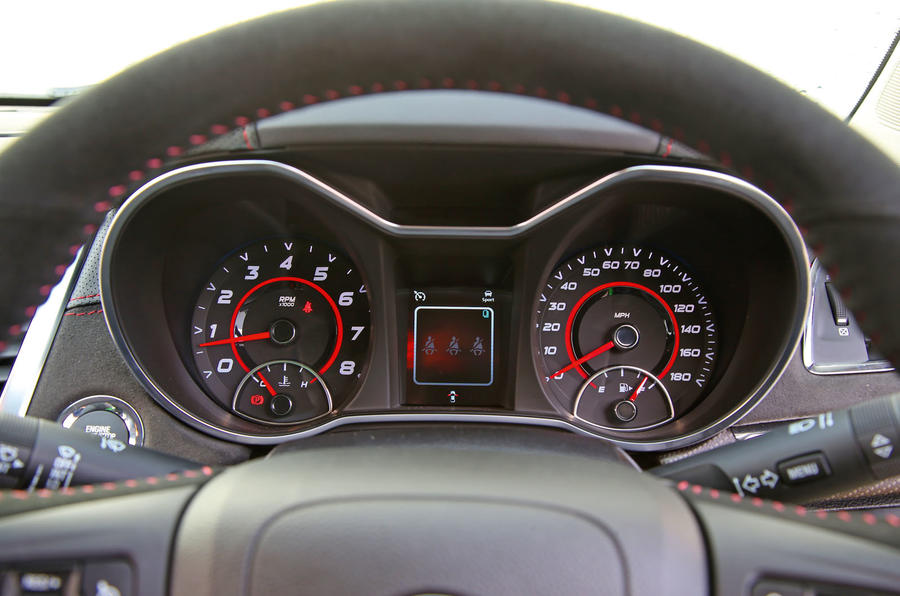 Vauxhall VXR8 GTS-R instrument cluster
