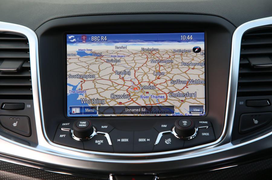 Vauxhall VXR8 GTS-R sat nav system