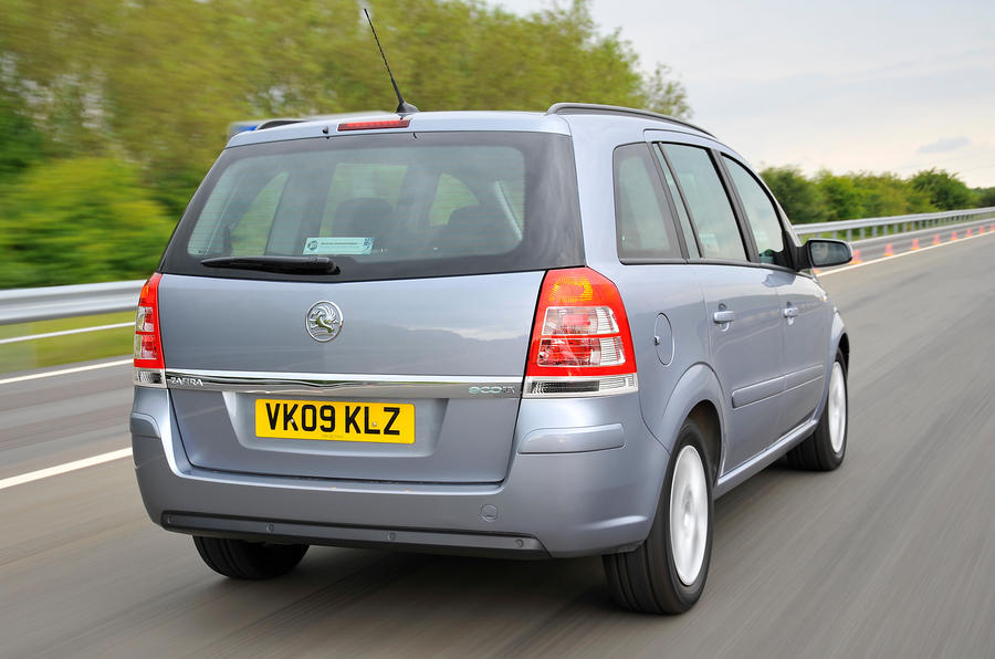 Vauxhall Zafira rear end
