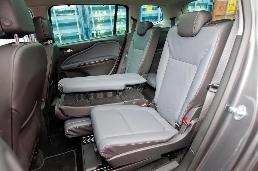 Vauxhall Zafira Tourer flexible seating