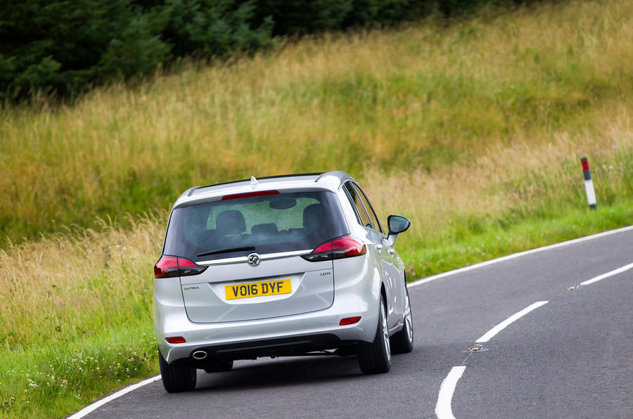 Vauxhall Zafira Tourer rear cornering
