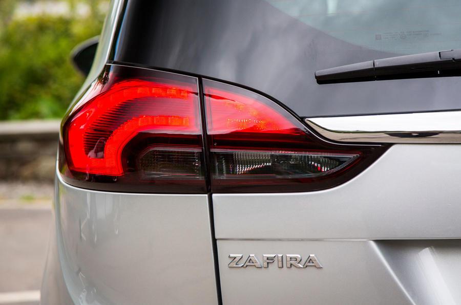 Vauxhall Zafira Tourer rear lights