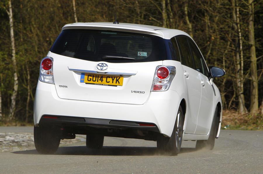 Toyota Verso rear cornering