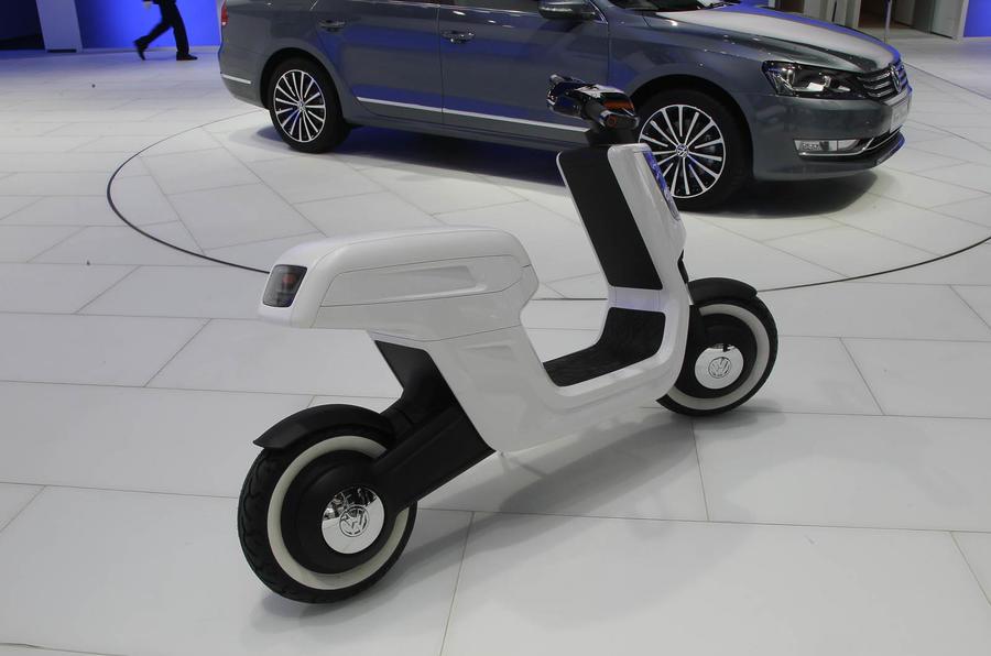 shanghai motor show 2011 vw e scooter autocar