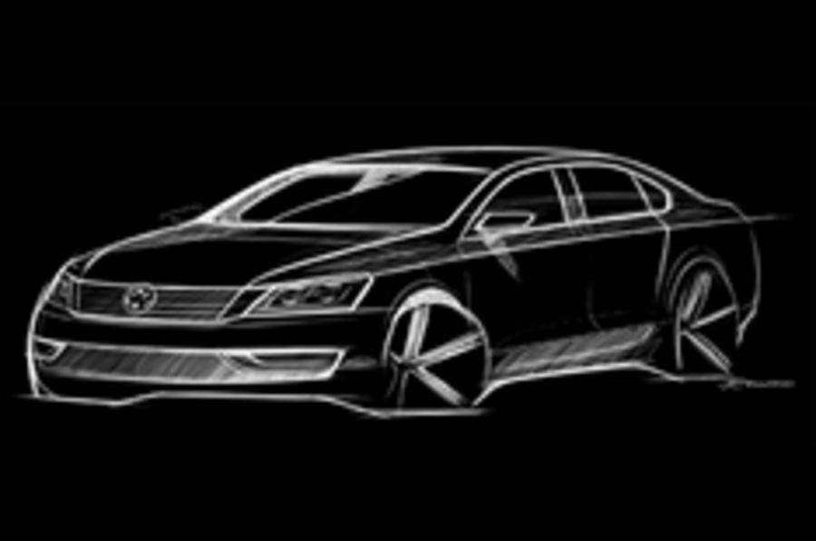 VW releases sketch of US saloon