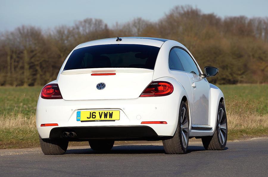 Volkswagen Beetle rear cornering