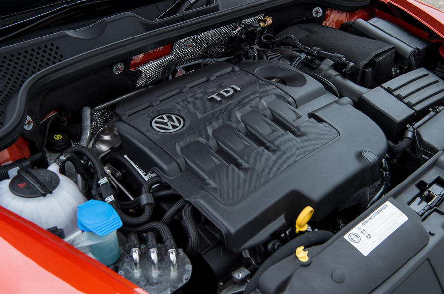 Volkswagen Beetle engine bay