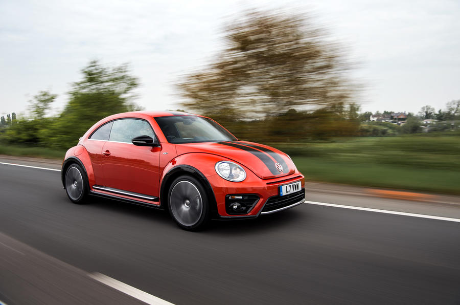 Volkswagen Beetle on the road