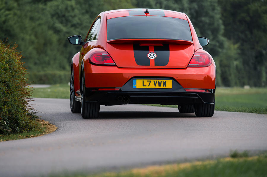 Volkswagen Beetle rear cornering