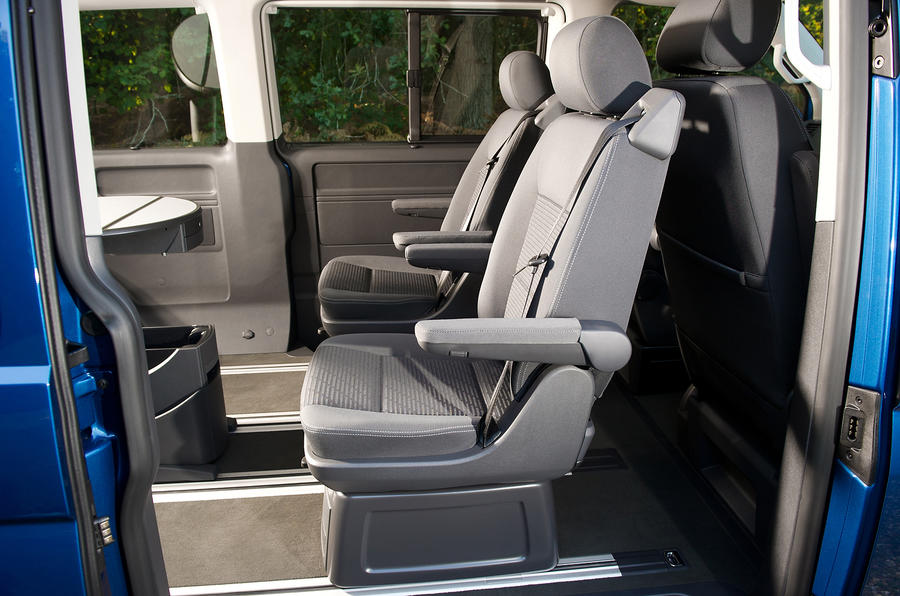 Volkswagen Caravelle rear seating
