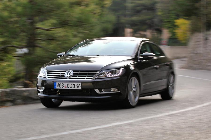 Volkswagen CC cornering