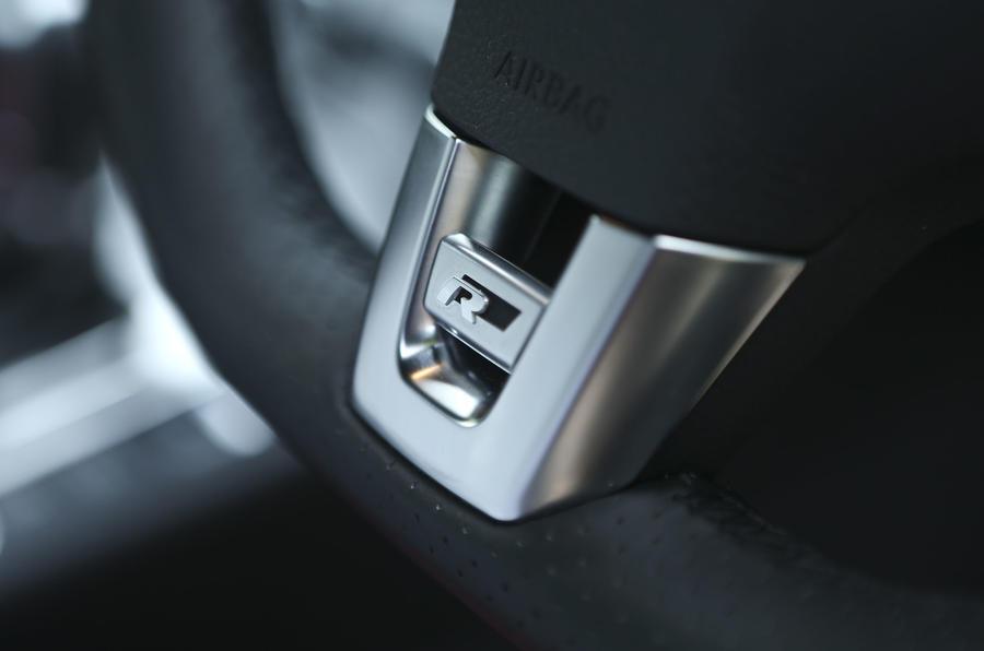 Volkswagen CC steering wheel badge