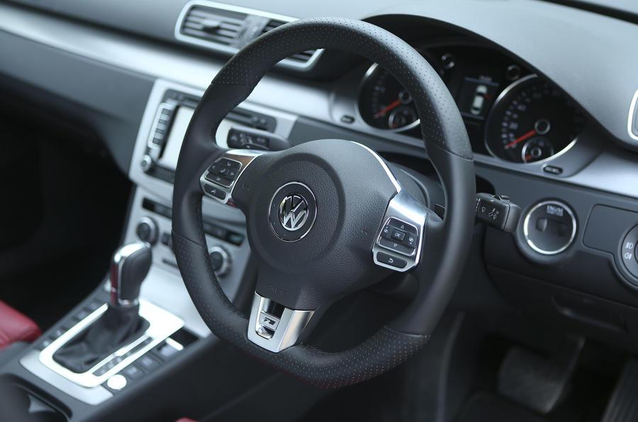 Volkswagen CC steering wheel