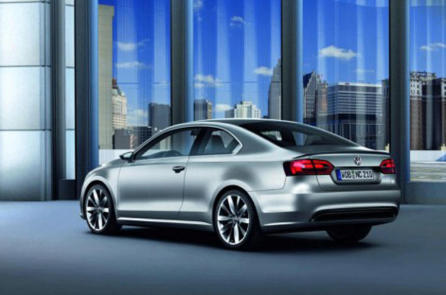 VW hybrid coupe leaks out