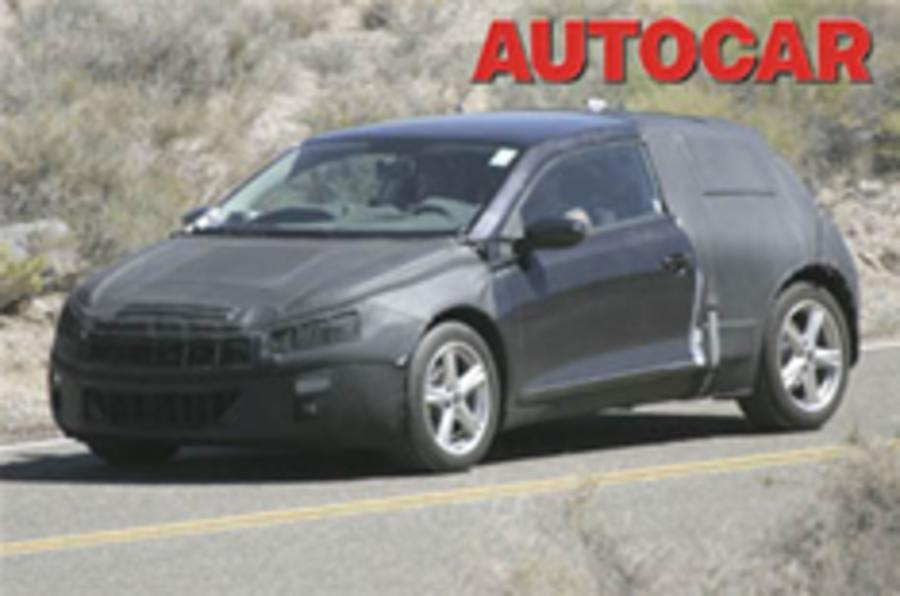 New VW Scirocco spied