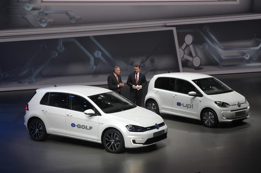 Frankfurt motor show 2013: Volkswagen e-Golf and e-Up