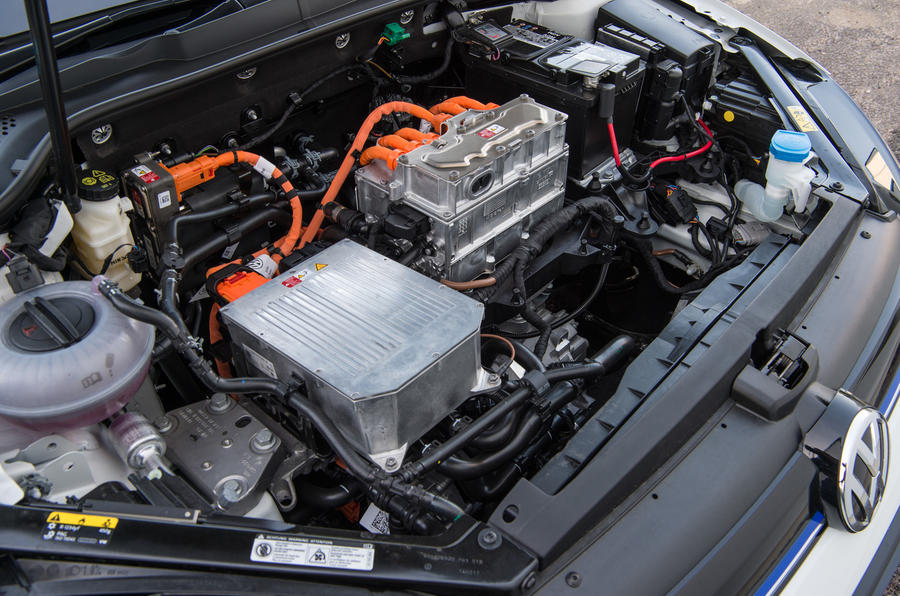 Volkswagen e-Golf electric engine bay