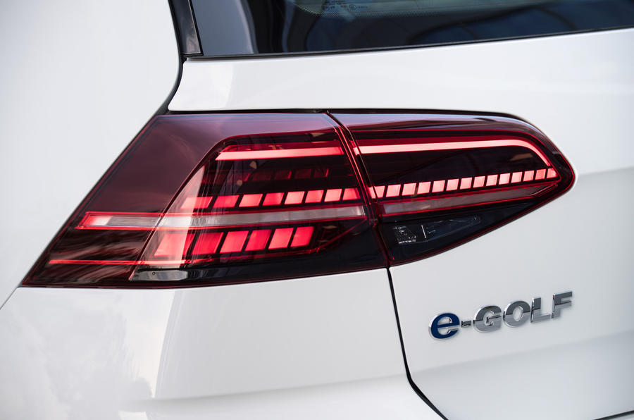 Volkswagen e-Golf rear LED lights