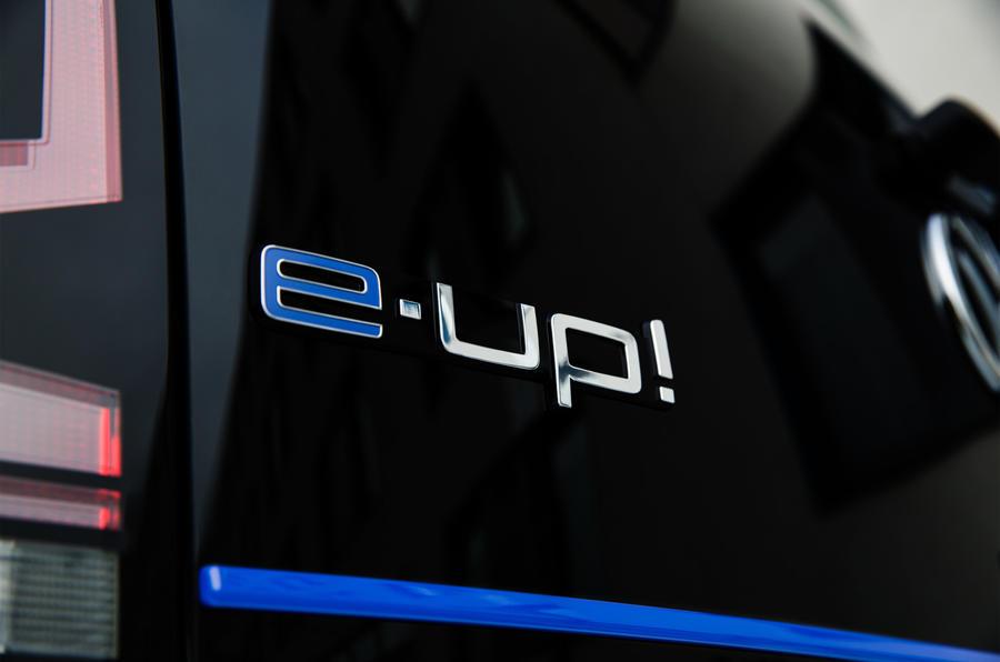 Volkswagen e-Up badging