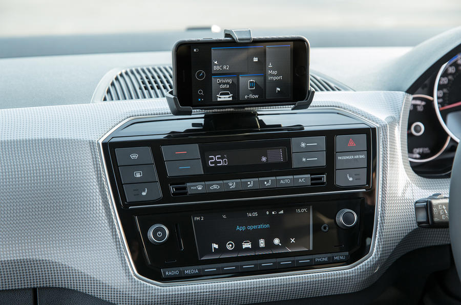 Volkswagen e-Up centre console