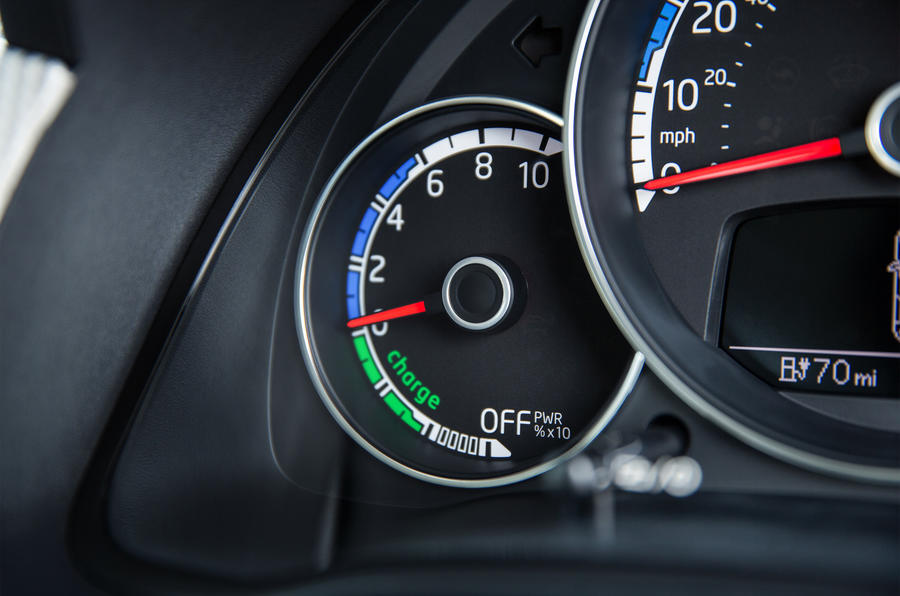 Volkswagen e-Up instrument cluster