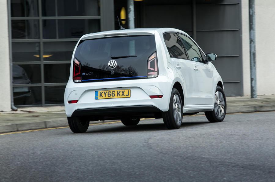 Volkswagen e-Up rear cornering