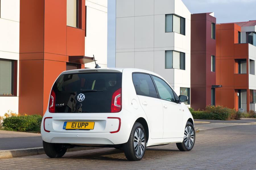 Volkswagen e-Up rear quarter