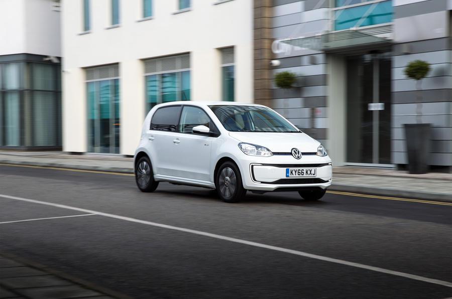 Volkswagen e-Up side profile