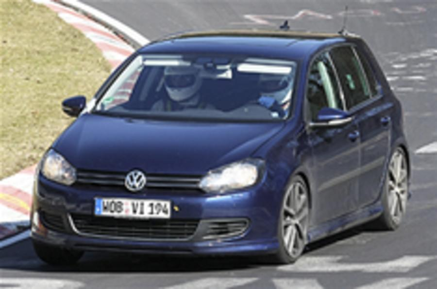 Hot VW Golf R20 snapped testing