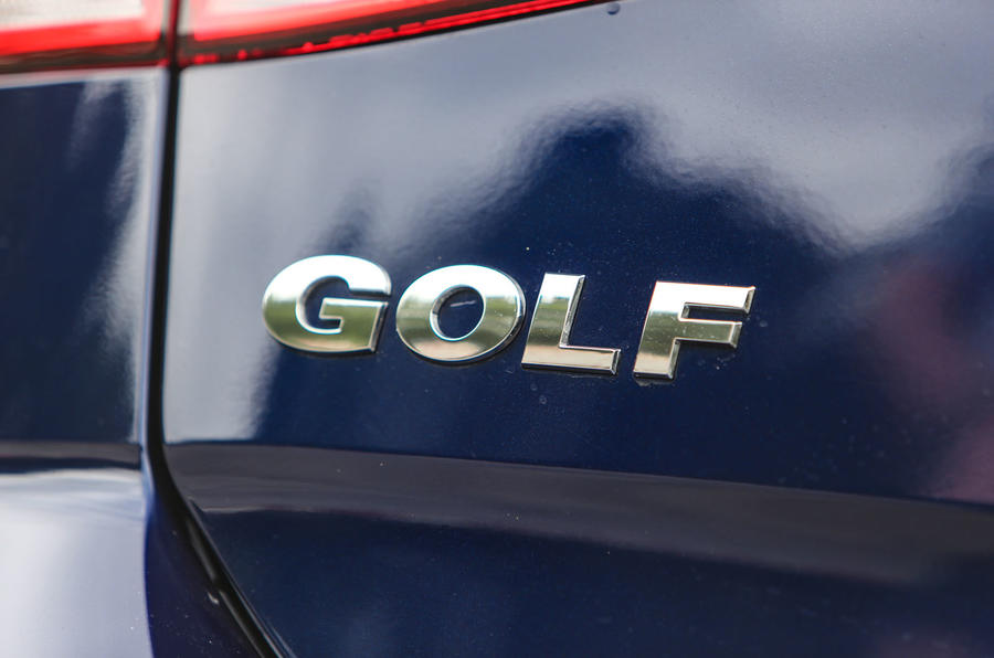 Volkswagen Golf boot badging