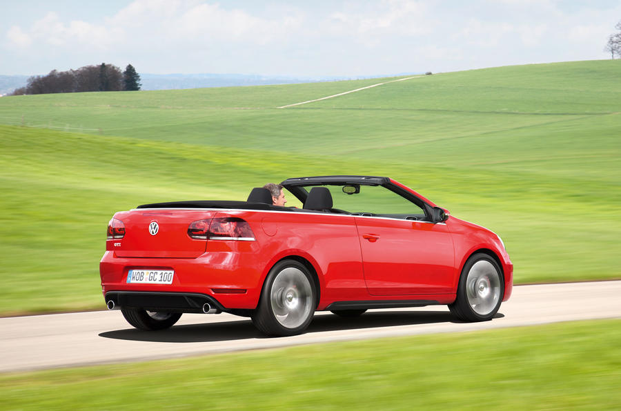 Volkswagen Golf GTI Cabriolet roof down