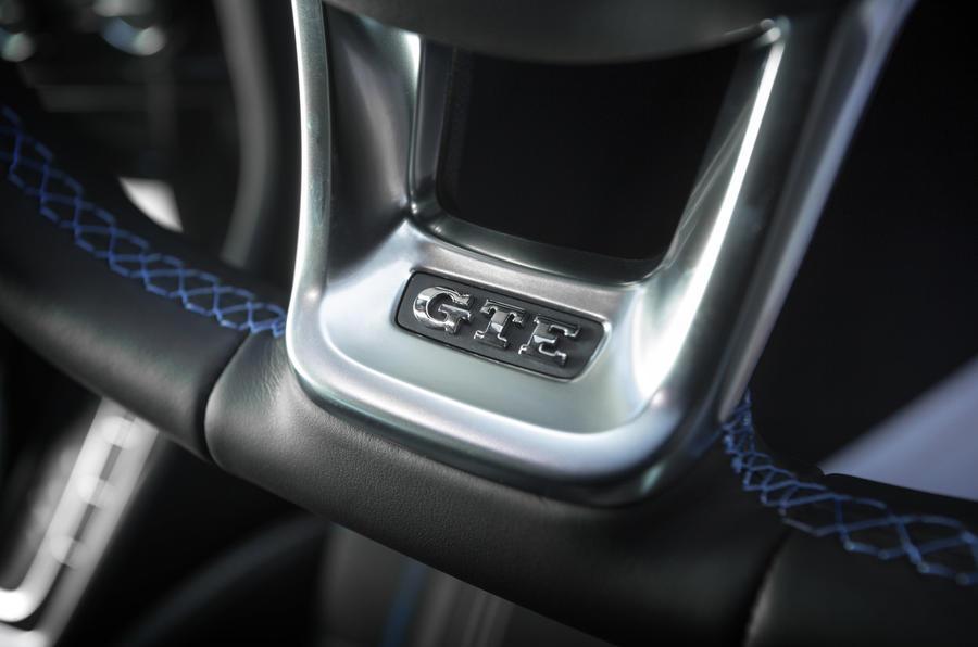 Volkswagen Golf GTE interior badging